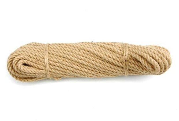 Lano jutové kroucené 10 mm x 10 m