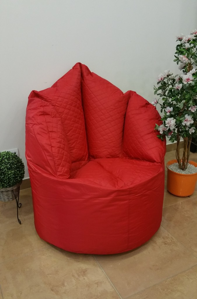 Sedací pytel Big Queen chair Omni Bag 110x95x135 červený