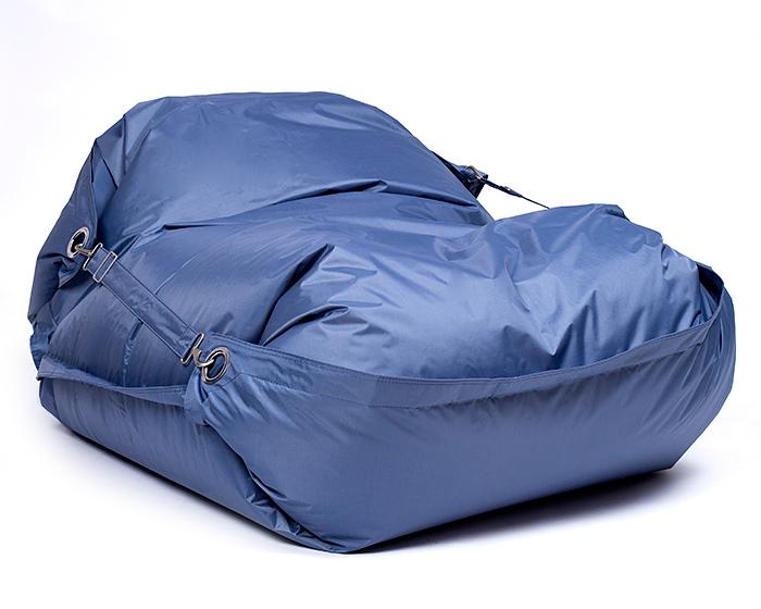 Omni Bag 181x141 Iron Gray - sedací pytel s popruhy menší velikost