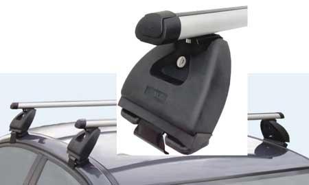 Střešní nosič Hakr ALU pro vozy Škoda Fabia II Combi bez podélníků 0340+0014+0128