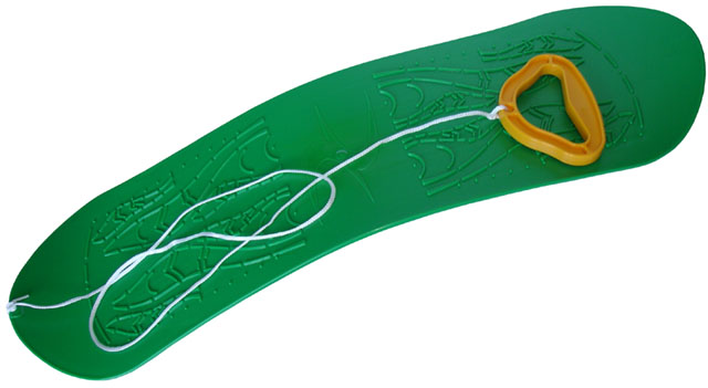Acra snowboard dětský plastový 05-A2033 - zelený