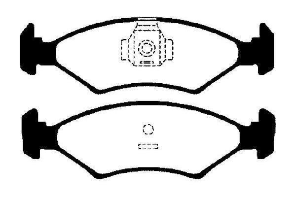 Brzdové destičky Nipparts J3600301