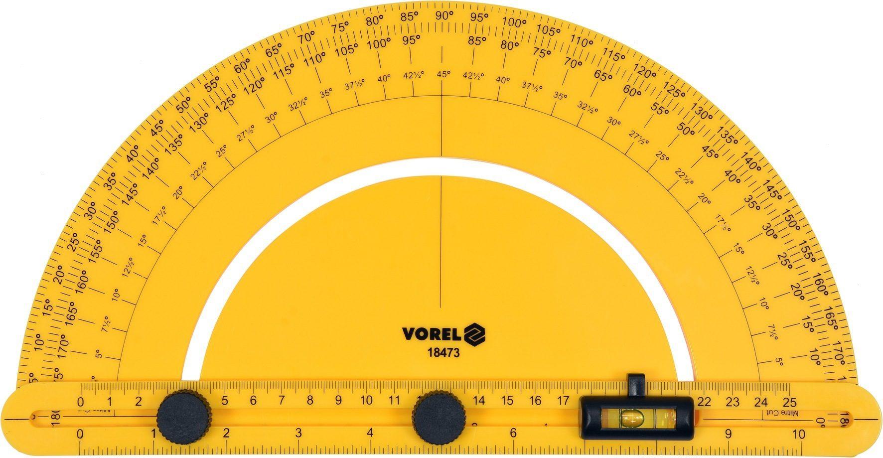 Compass Úhloměr s vodováhou 250 mm