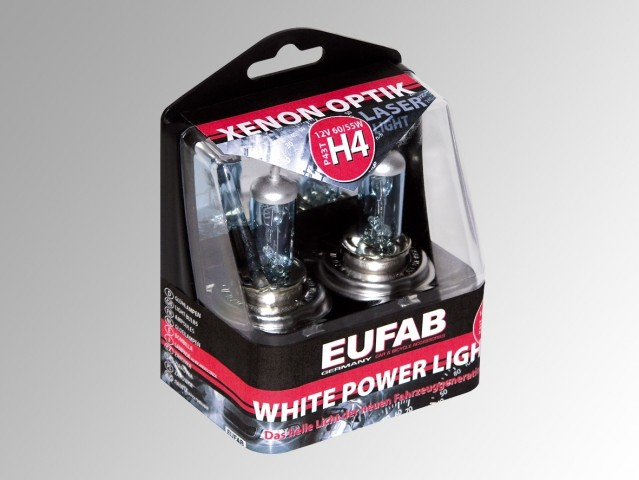 AUTOŽÁROVKY	Eufab H4 White Power Light