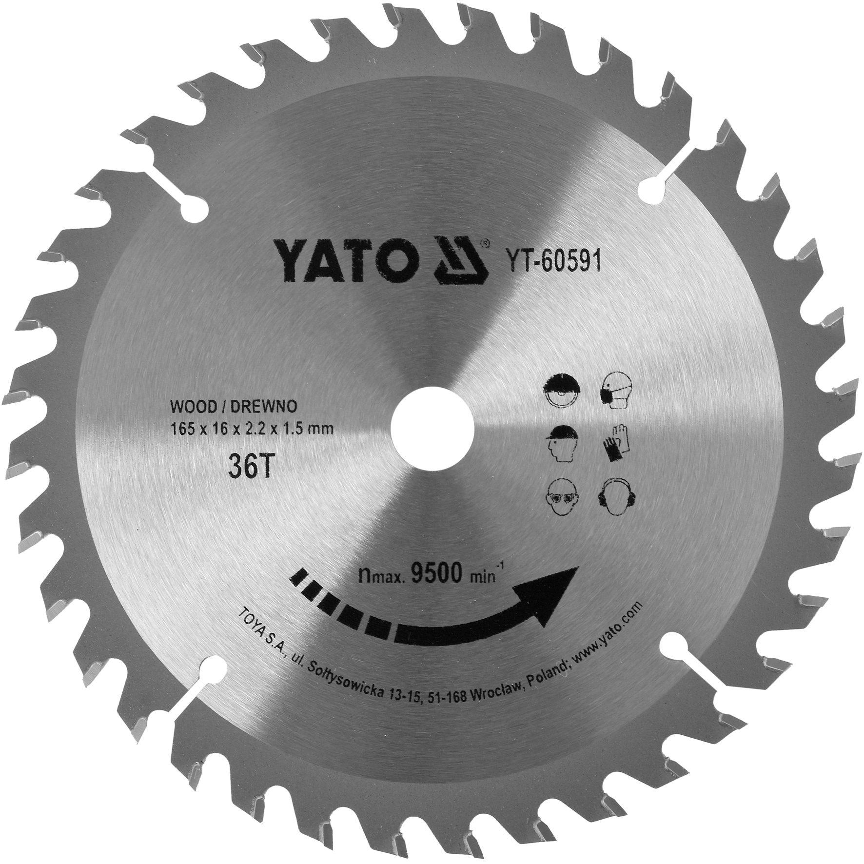 Compass Kotouč na dřevo TCT 165 x 16 mm 36z (pro YT-82810)