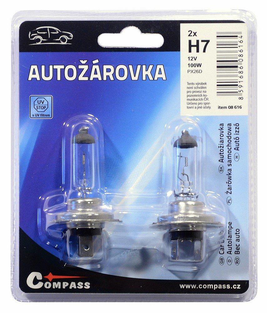 Compass Žárovka 12V H7 100W PX26d blister 2ks