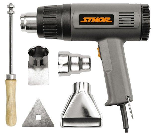 Compass Pistole opalovací 230V 1000/1500W 375/495°C + příslušenství