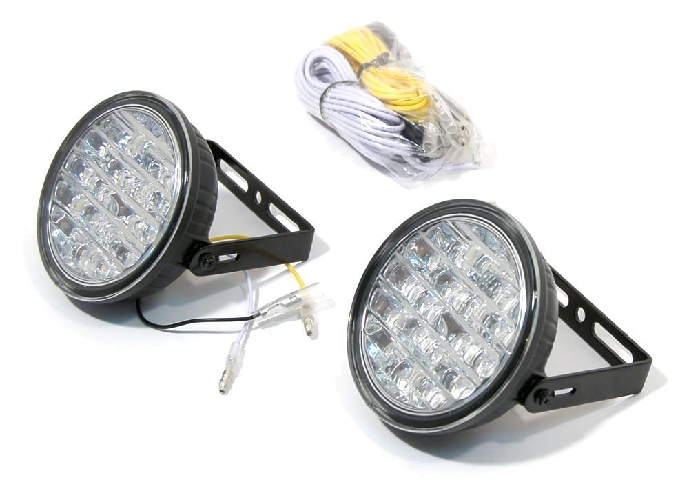 Compass Světla denního svícení kulatá 18 LED/12V