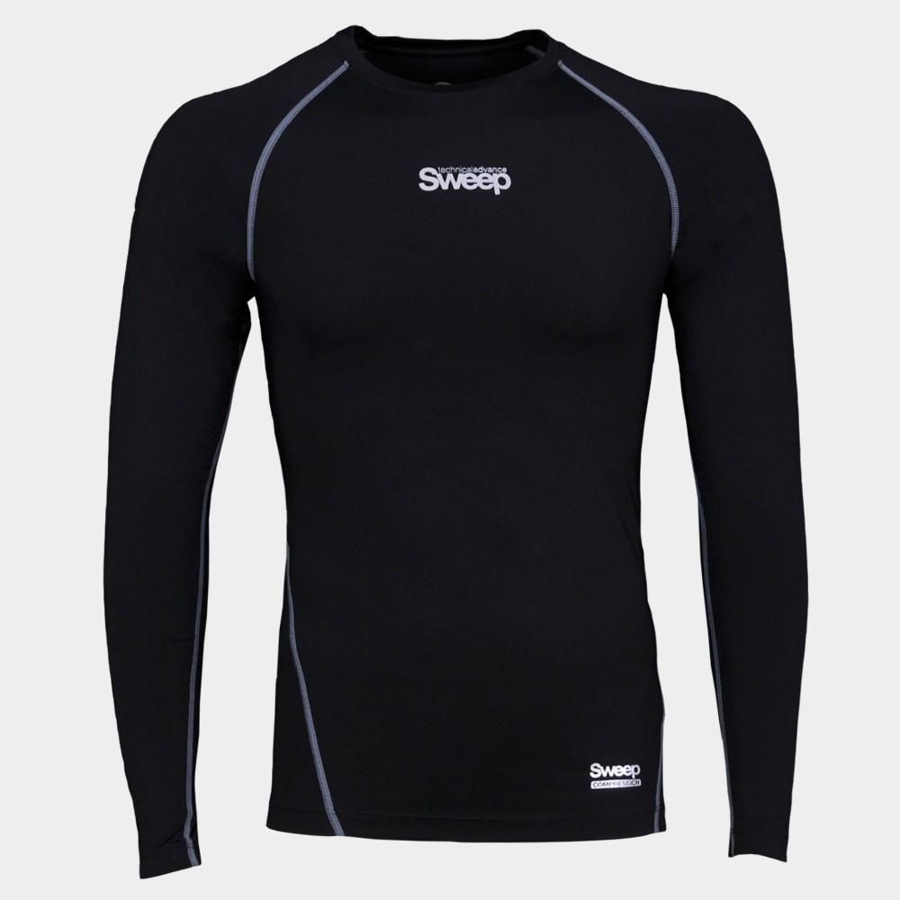 Pánské kompresní triko dlouhý rukáv SMFT011 černé
