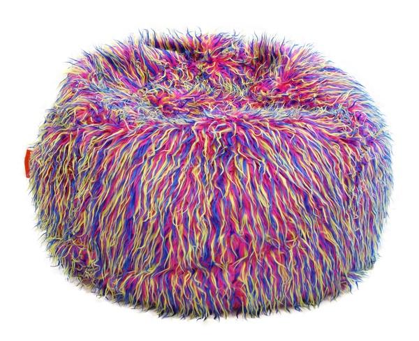 Sedací vak Beanbag Shaggy 90x50 Multicolor yellow-pink-blue