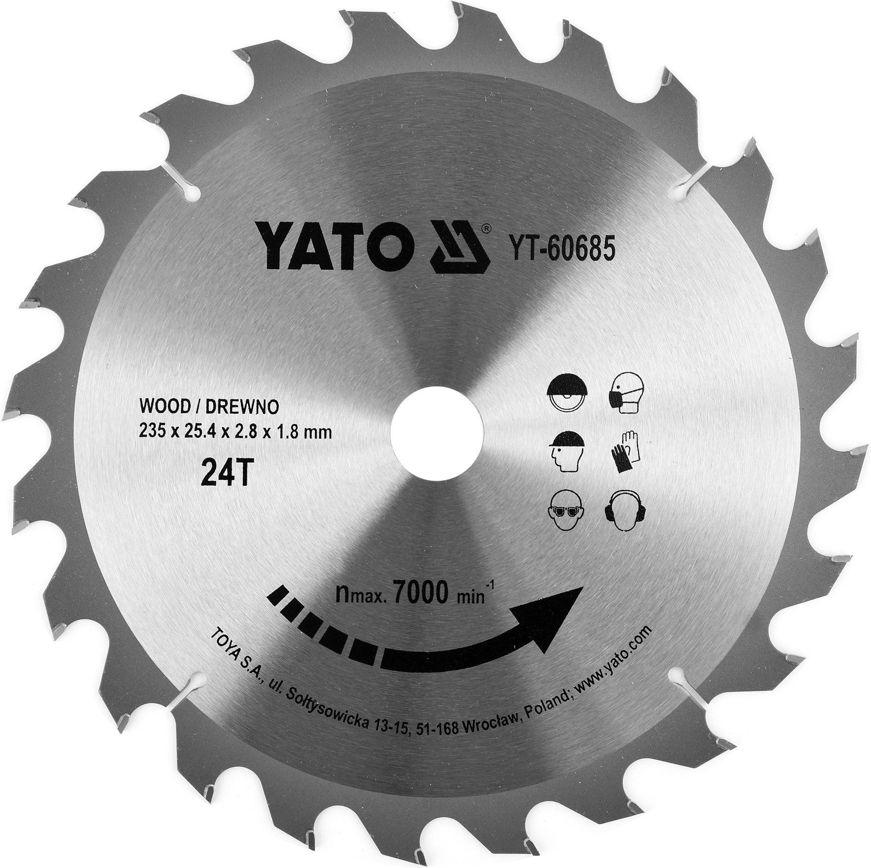 Compass Kotouč na dřevo TCT 235 x 25,4 mm 24z (pro YT-82153)