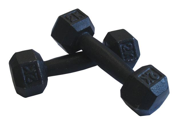 ACRA činky kovové CNC2 - 2 kg