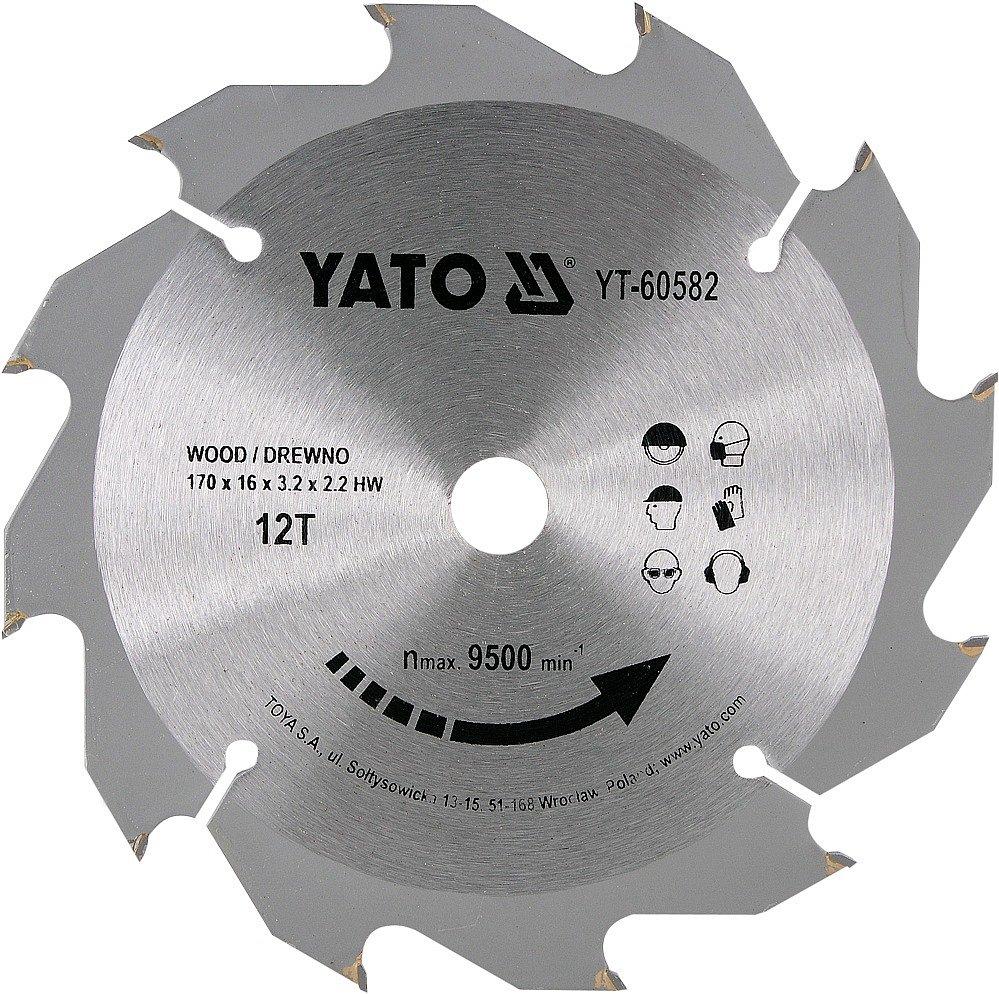 Compass YATO Kotouč na dřevo 170 x 16 mm 12z YT-60582
