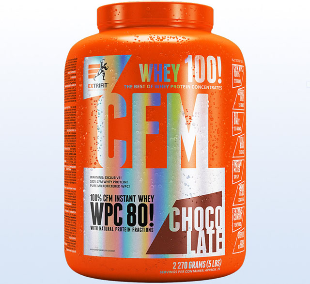 Extrifit CFM Instant Whey 80 čokoláda 2270 g - protein