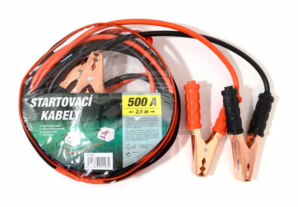 Compass Startovací kabely 500A 2,5m zipper bag