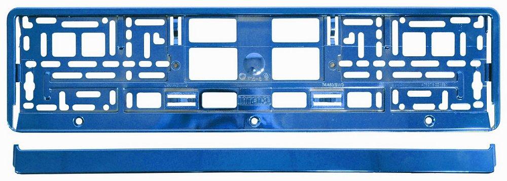 Compass Podložka pod SPZ BLUE metallic
