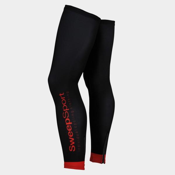 Cyklistické návleky na nohy CYKLO-N009 černo/červené vel. XS/S