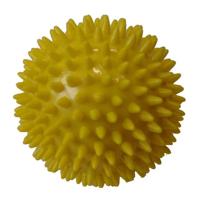 ACRA Míček masážní průměr 7,5 cm žlutý
