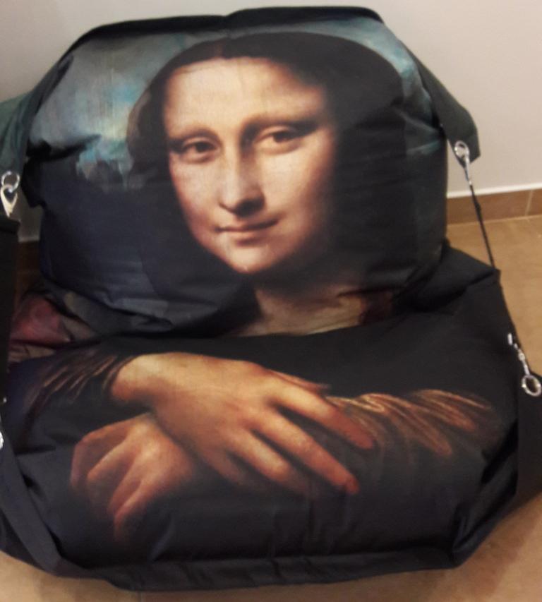 Designový sedací pytel Omni Bag s popruhy Mona Lisa 191x141
