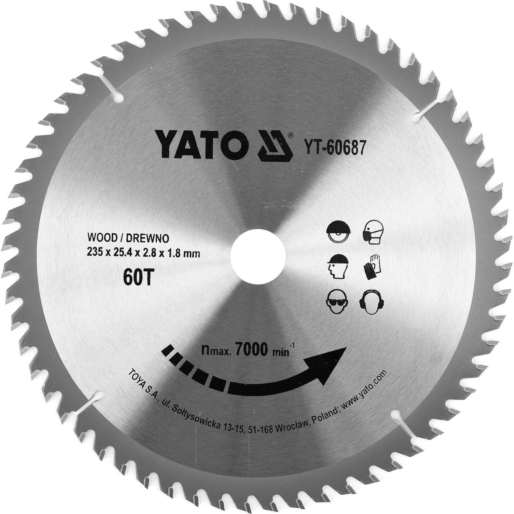 Compass Kotouč na dřevo TCT 235 x 25,4 mm 60z (pro YT-82153)