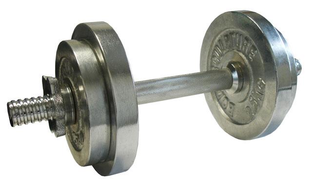 ACRA Nakládací činka jednoruční, chromovaná 10kg