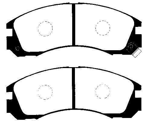 Brzdové destičky Nipparts J3605031 - skladový výprodej