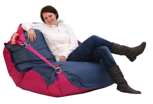 Sedací pytel Beanbag Duo s popruhy 189x140 Pink - Jeans