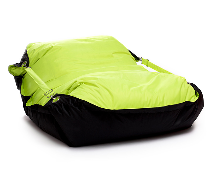 Omni Bag Duo 191x141 Limet-Black - sedací pytel s popruhy
