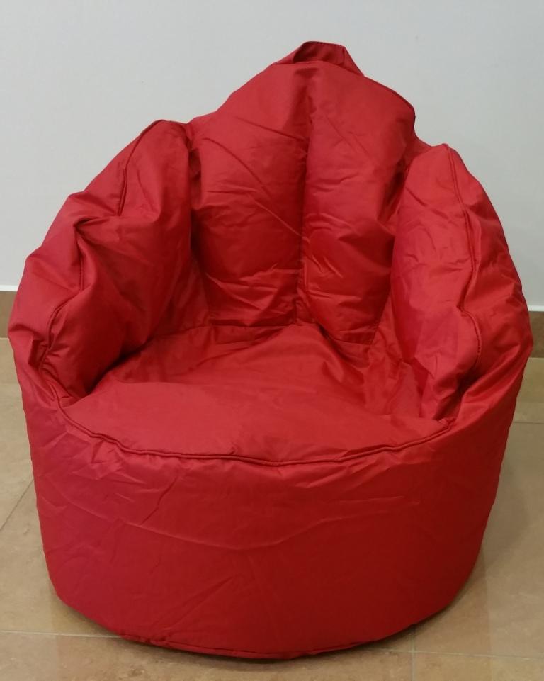 OMNIBAG Queen Chair 60x60x65 červený - sedací pytel - křeslo