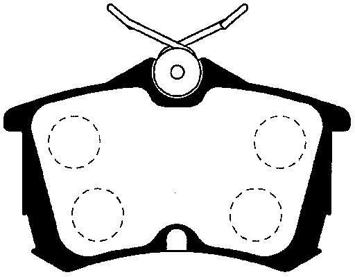 Brzdové destičky Nipparts J3614015