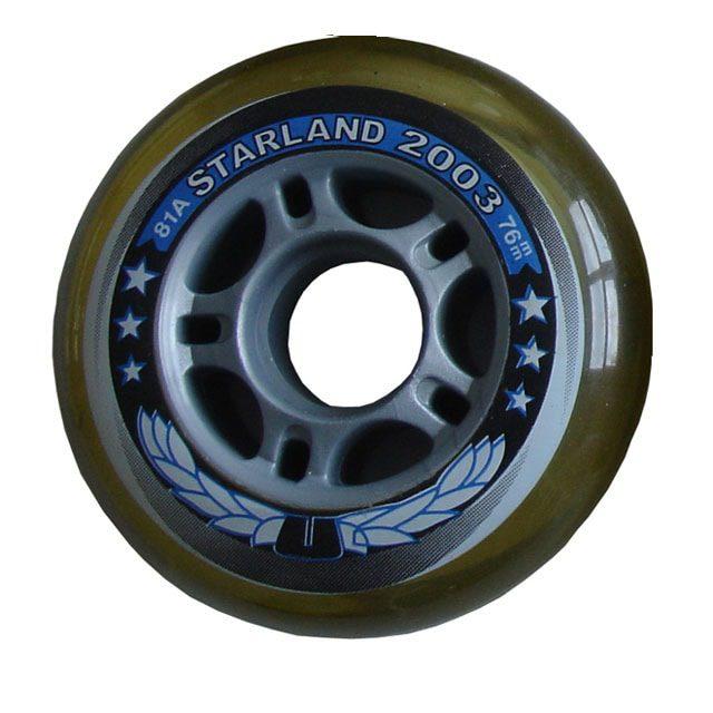 ACRA CS05/2 SKATE Náhradní kolečka do kolečkových bruslí 76 x 24 mm