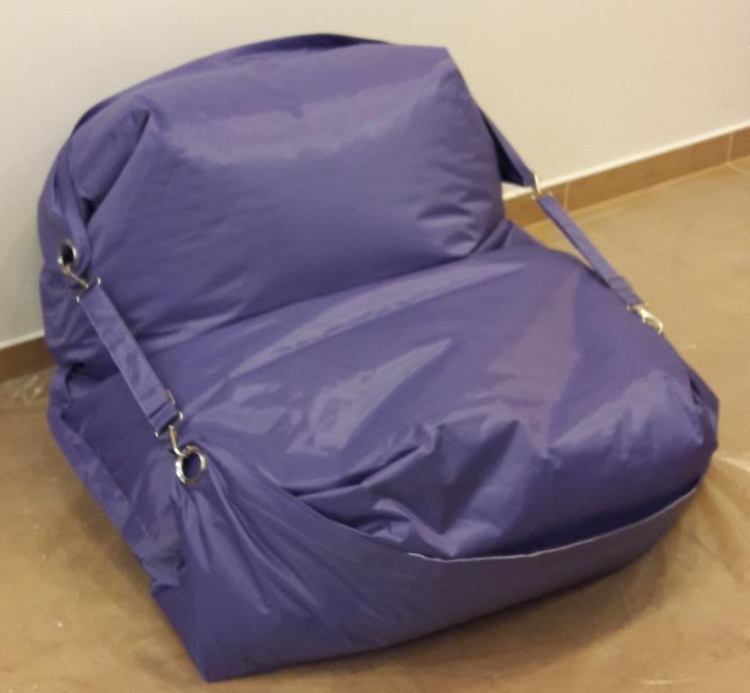 Sedací pytel Omni Bag s popruhy Light Purple 191x141