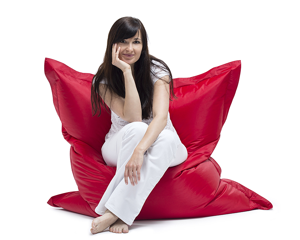Omni Bag Scarlet Rose 130x100 - sedací pytel