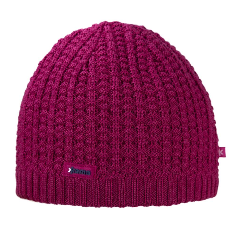 Pletená čepice Kama A93 růžová