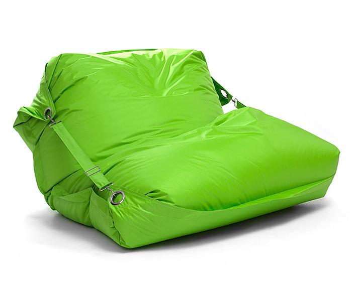 Sedací pytel Omni Bag s popruhy Fluorescent Green 191x141