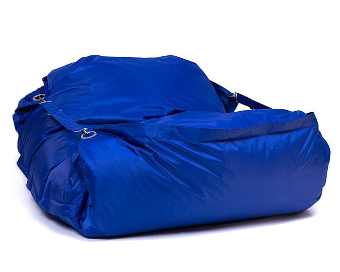 Omni Bag 181x141 Dark Blue - sedací pytel s popruhy menší velikost