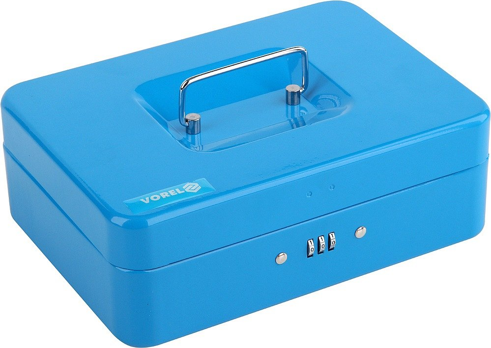 Compass Pokladna příruční 250x180x90mm modrá, číselný kód