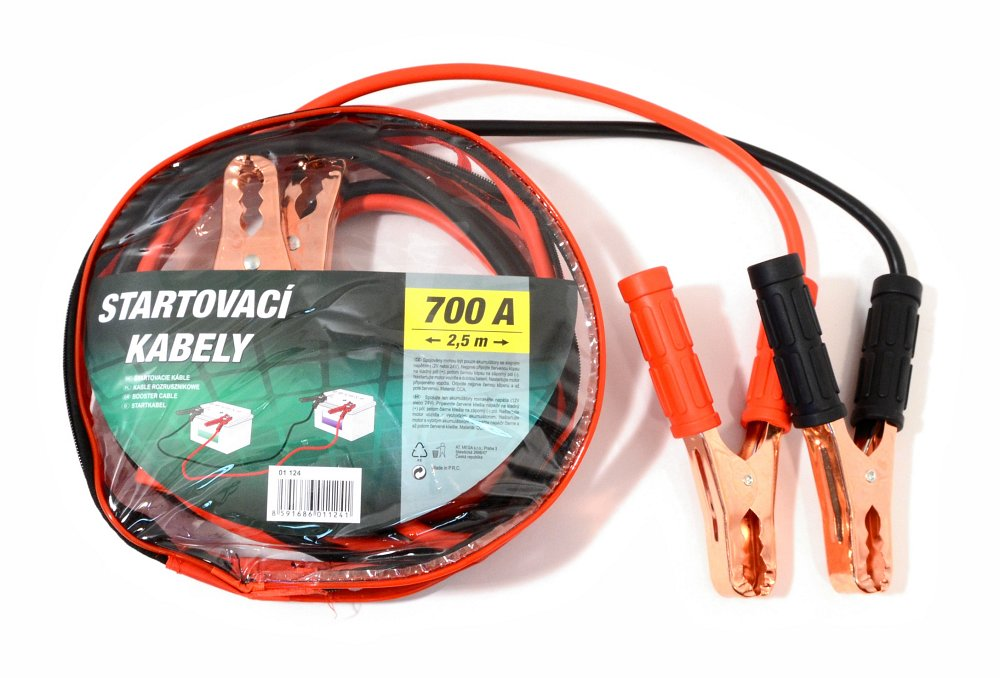 Startovací kabely 700A 2,5m zipper bag