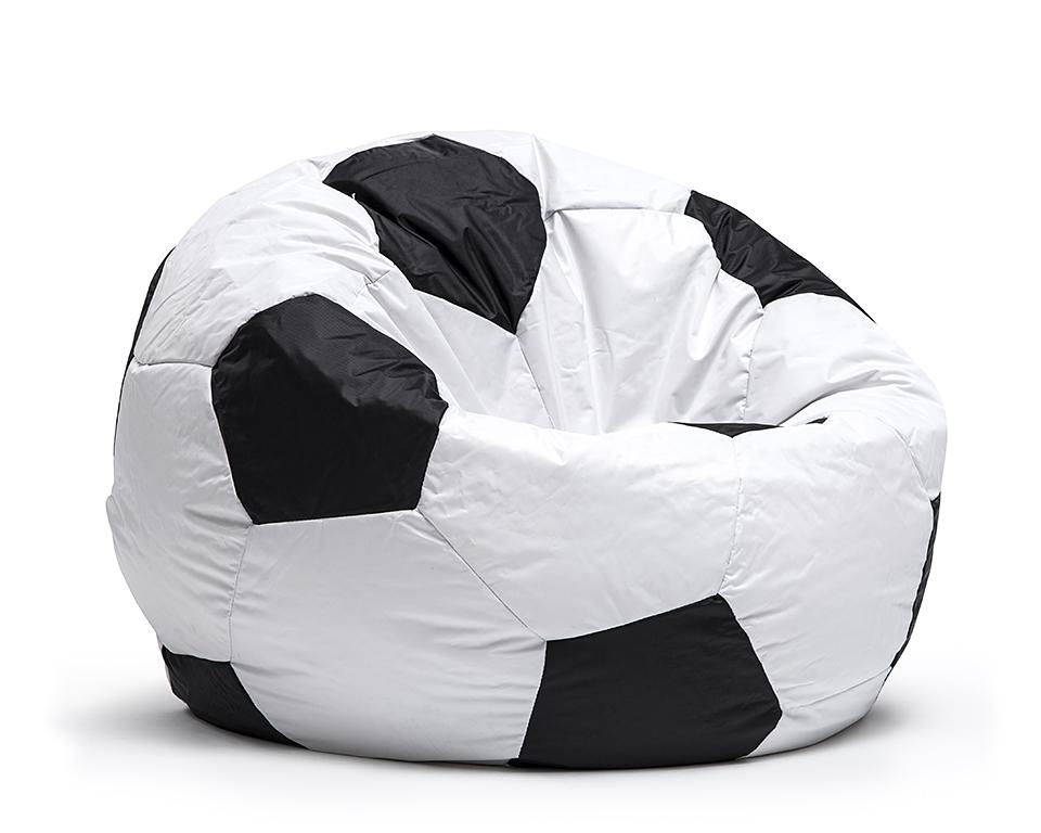 Sedací pytel Omni Bag Fotbal průměr 75 cm šedý