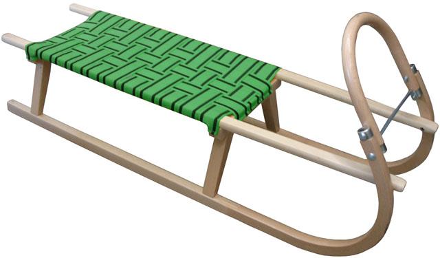 Acra sáně 125cm dřevěné A2042 zelené