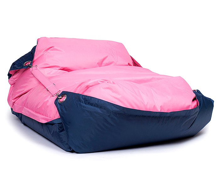 Omni Bag Duo 181x141 Pink-Jeans - sedací pytel s popruhy menší velikost
