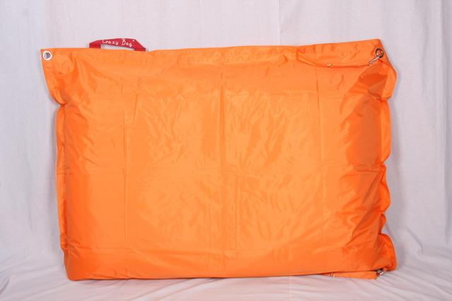 Sedací pytel CrazyBag Outdoor Oranžový - větší velikost 188x140 s popruhy