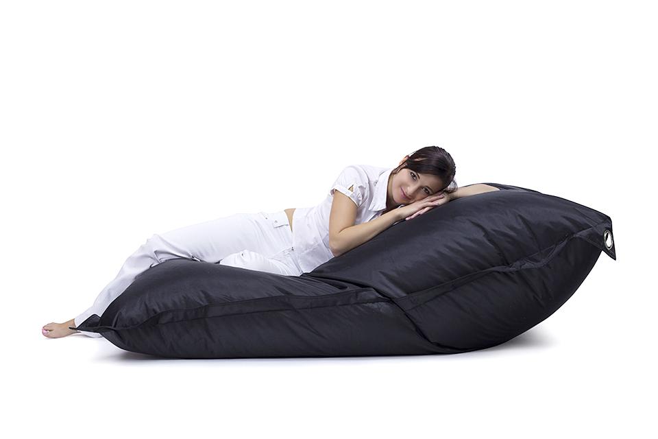 Omni Bag 191x141 Black - sedací pytel s popruhy větší velikost