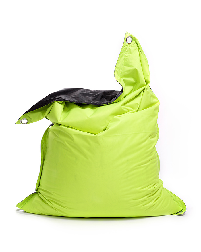 Omni Bag Duo 191x141 Fluorescent Yellow-Black - sedací pytel s popruhy