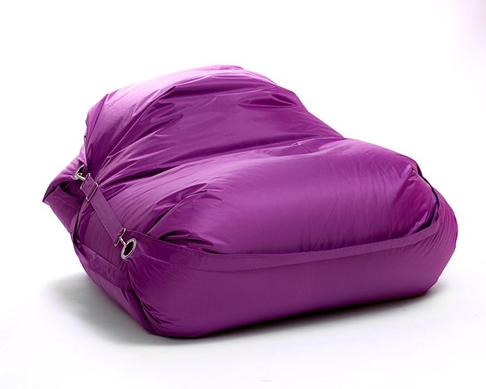 Omni Bag 181x141 Violet - sedací pytel s popruhy