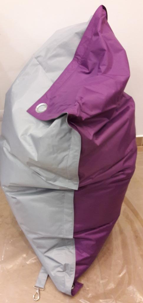 Sedací pytel Omni Bag Duo s popruhy Light Gray-Violet 191x141