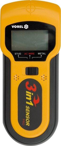 Detektor kovů a elektrických rozvodů LCD