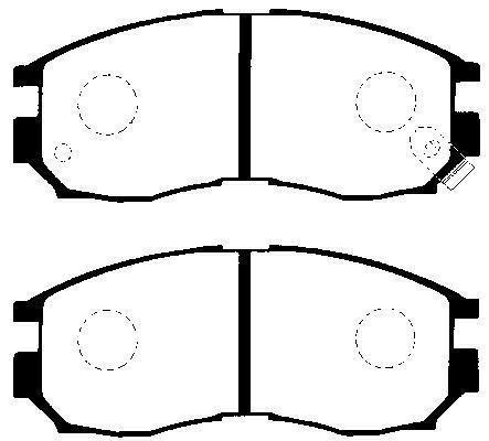Brzdové destičky Nipparts J3605030