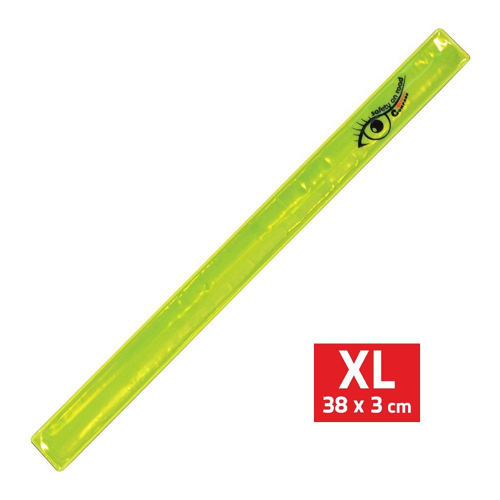 Compass Pásek reflexní ROLLER XL 3x38cm S.O.R. žlutý