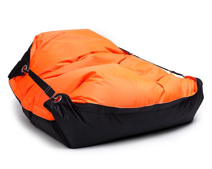 Omni Bag Duo 181x141 Fluorescent Orange-Black - sedací pytel s popruhy